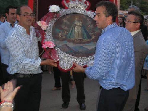 Llegada del Cuadro a la Mayordomía 2011