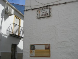 Calle Juan Manuel Subrié - Placa biográfica