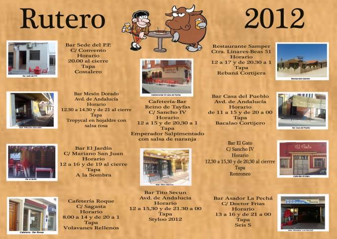 Establecimientos Ruta de la Tapa 2012, Santisteban del Puerto