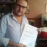 Justo Sánchez, ganador de 90Kg de Cerveza en Ruta de la Tapa 2012