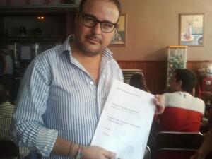 Justo Sánchez, ganador de 92 litros de Cerveza en Ruta de la Tapa 2012