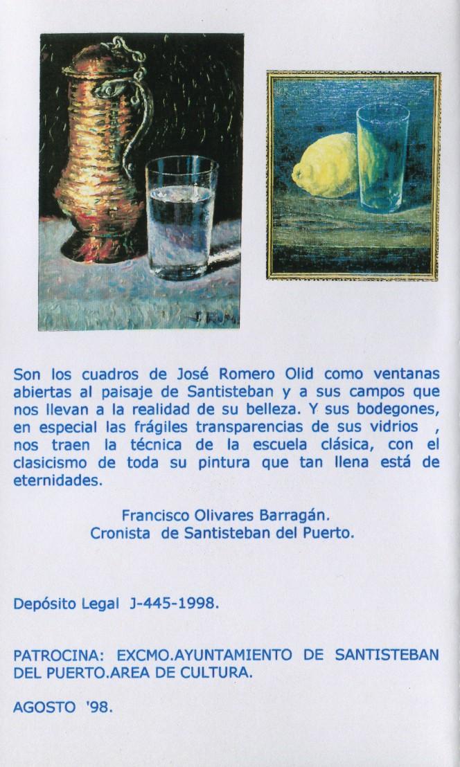 Contraportada VHS documental José Romero