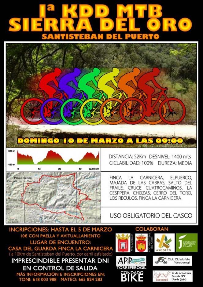 Cartel Primera Quedada Mountain Bike Sierra del Oro