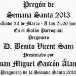Pregón de Semana Santa 2013