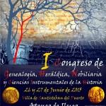 Cartel oficial I Congreso Genealogia Ateneo Ilugo