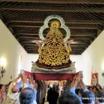Virgen del Collado entrando en la ermita 2017